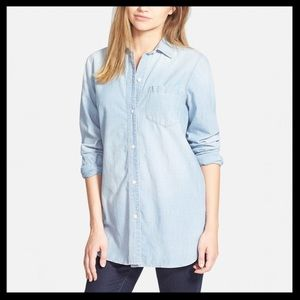 Madewell Chambray Ex-Boyfriend Button Down Shirt